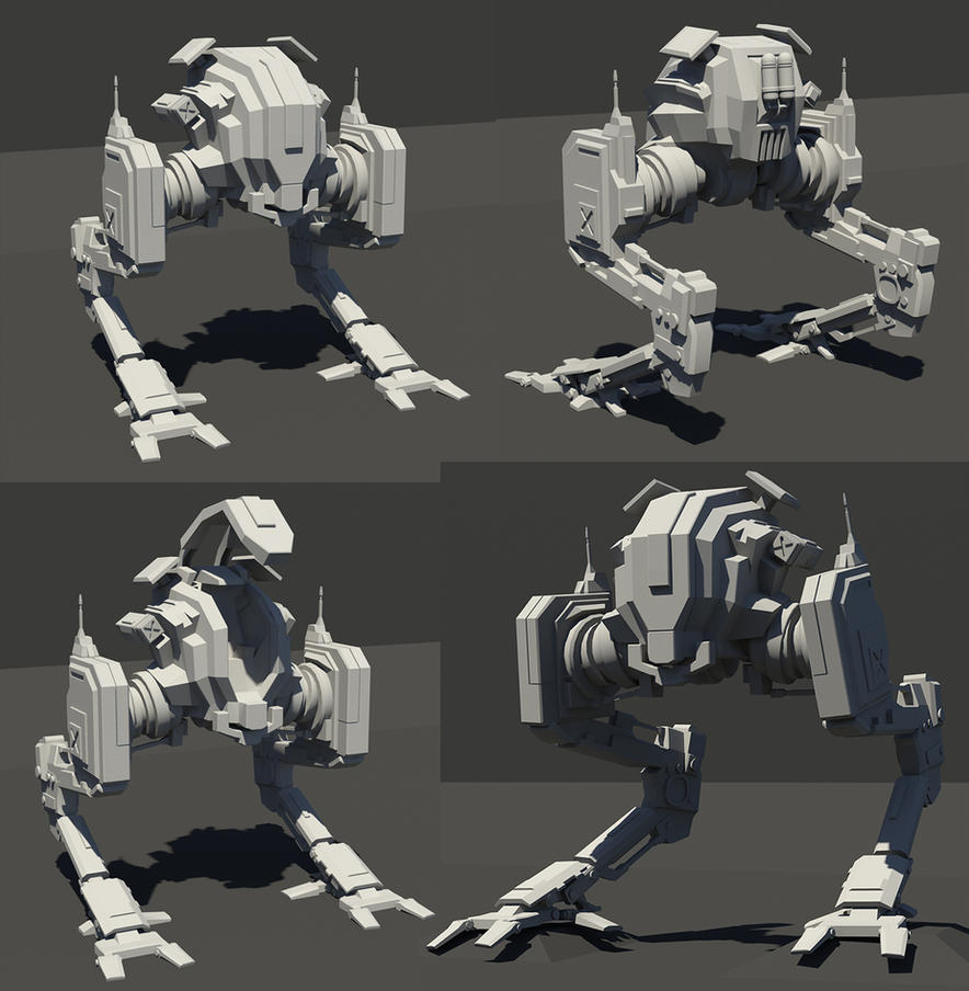 Mech model sheet by rickystinger88