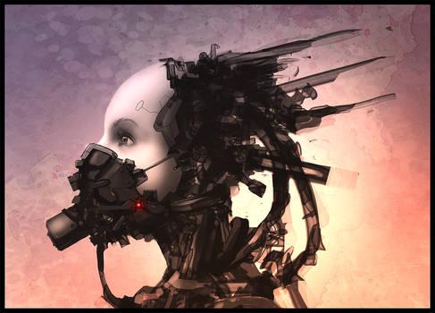 Female robot head