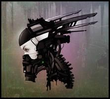 Female robot head ver2 (Timelapse) by rickystinger88