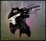 Female robot head ver2 (Timelapse)