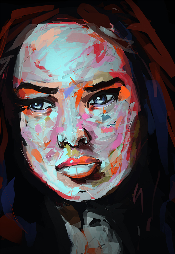 Digital Oil Painting Palette Knife Test 01 By