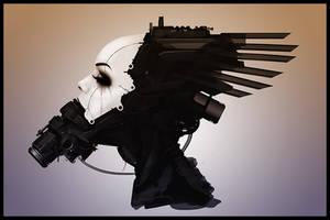 Speedpainting: tech head ver4 by rickystinger88
