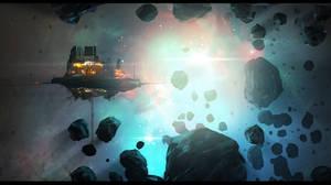 Speedpainting: Asteroid Mining Rig