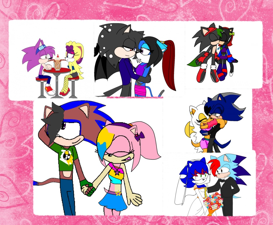 Sonic fan couples collage by SwiftArt-Star
