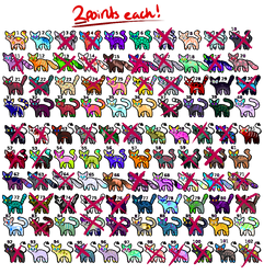 [2PTS EACH - OPEN] 102 Chibi Kats