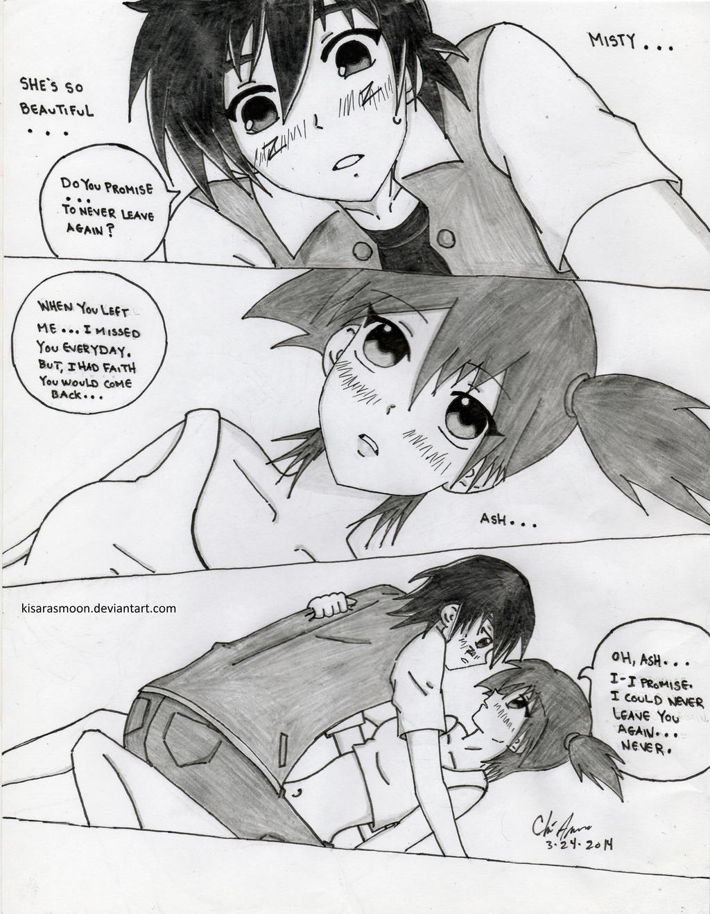 Ash x Misty Doujinshi Short: Stay by Kisarasmoon