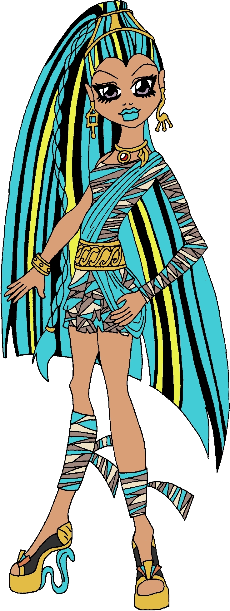 Nefera Denile Free Coloring Pages