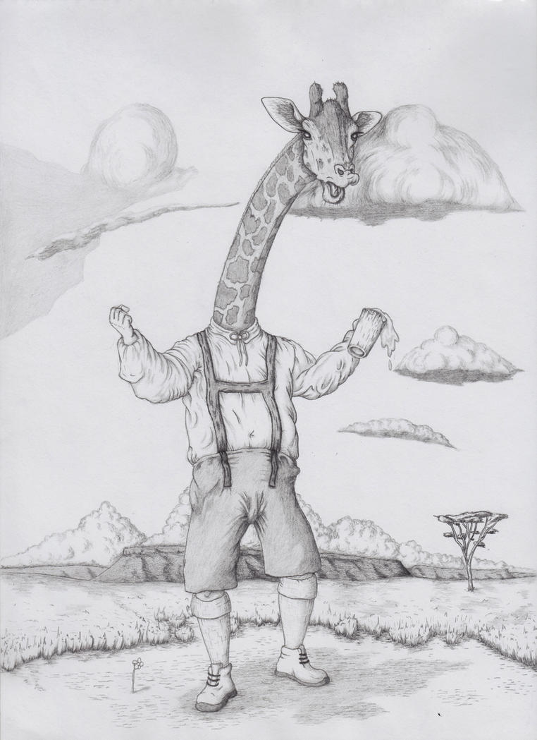 Jerk-Raffe Pencil by T-Snyman