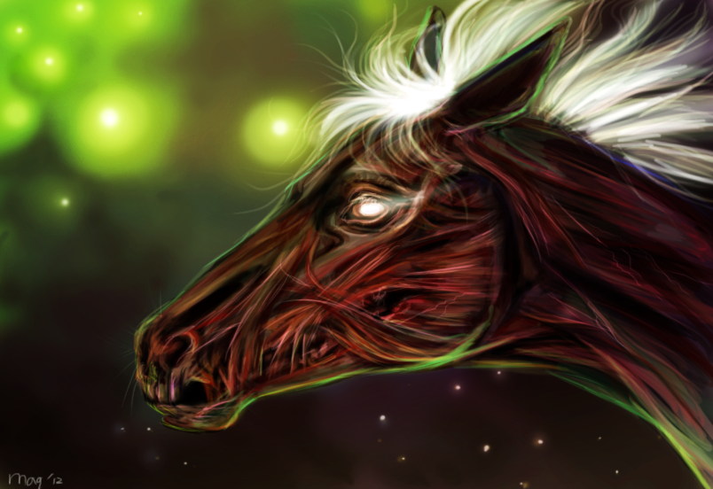 Zombie Horse by Maquenda