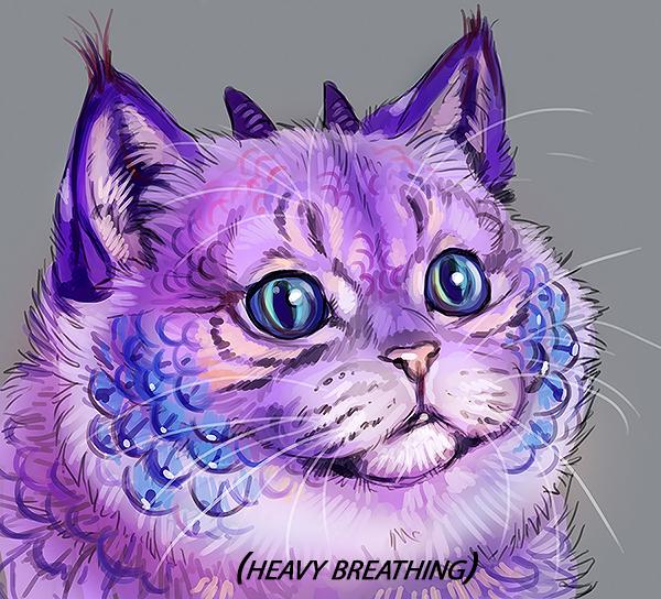 Heavy Breathing Cat Breathing Intensifies