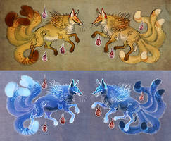 Kitsunes by Maquenda