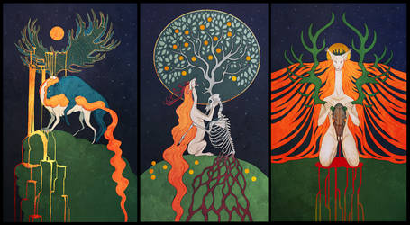 The Lady and the Stag by Maquenda