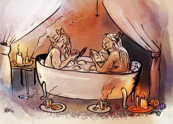 Bathing by Maquenda