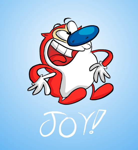 Week #9 cartoon characters (non disney/non WB) Stimpy_by_Faawx