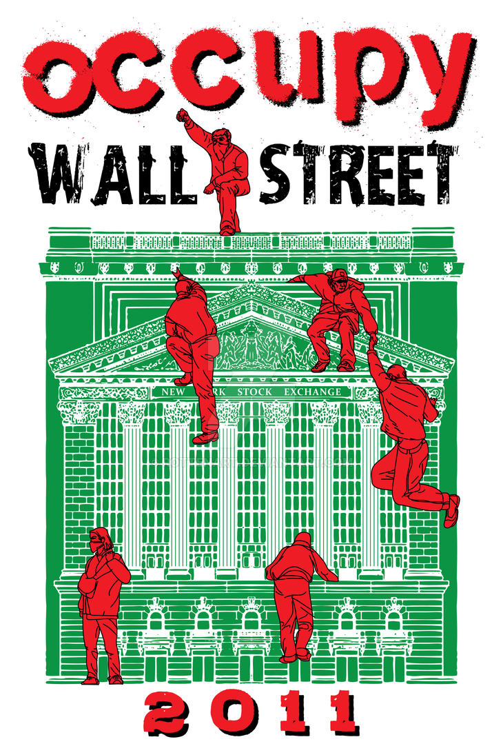 Occupy Wall Street 2011 by rottenart