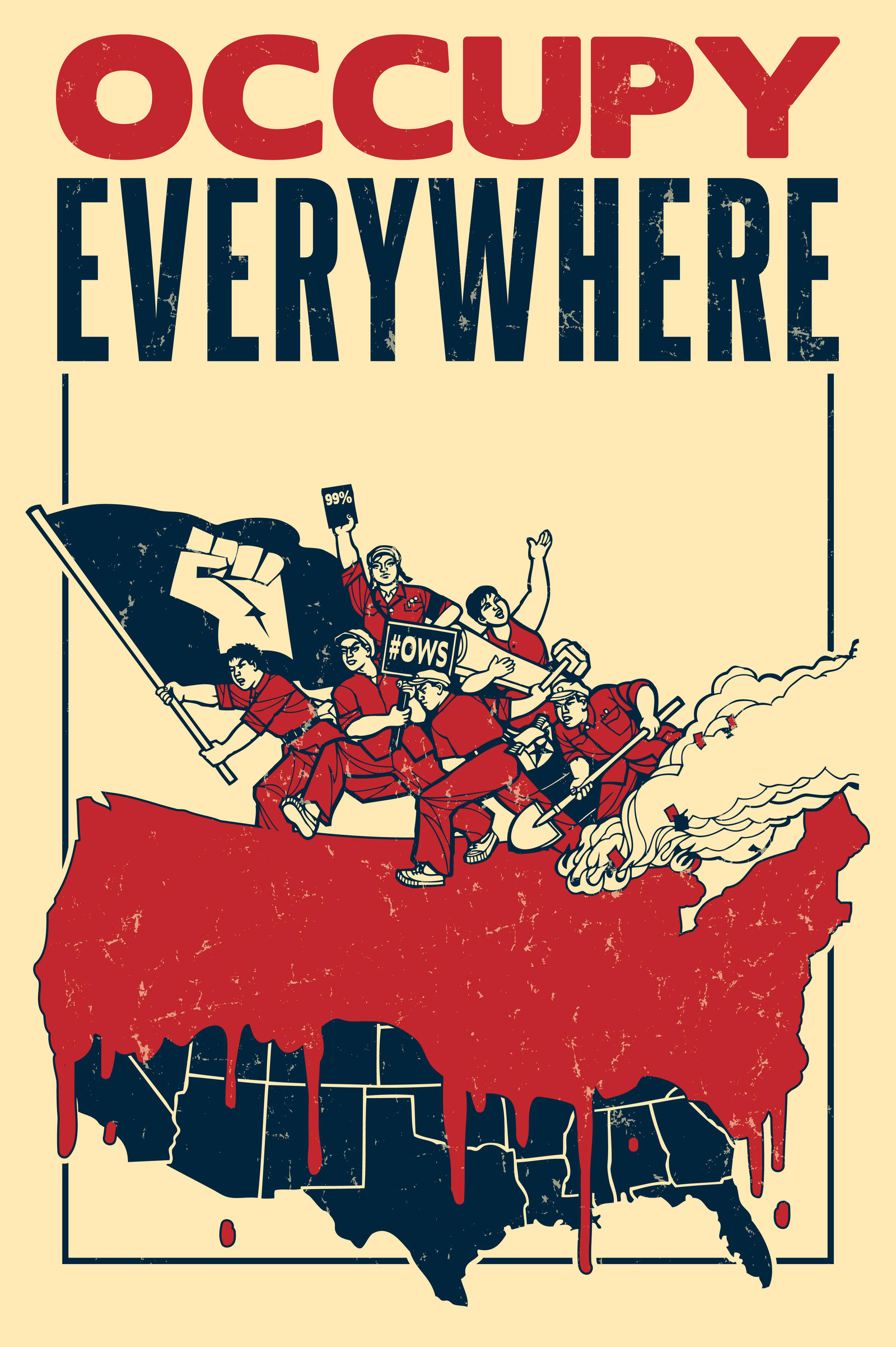 Occupy Everywhere by rottenart