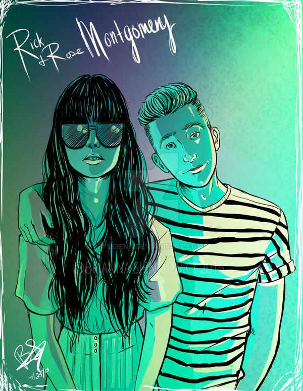 Hipster Siblings by brianna13