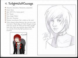 OC Request: TwilightWolfCourage by bsienk
