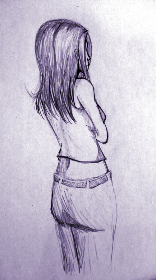 Girlu0026#39;s Back Sketch By Tracy-Crow On DeviantArt