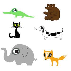 ABC animals A - F
