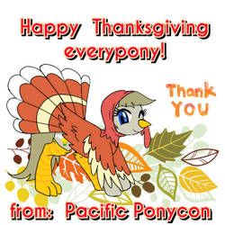 happy Thanksgiving mission belle pacific PonyCon by HazardousHeart