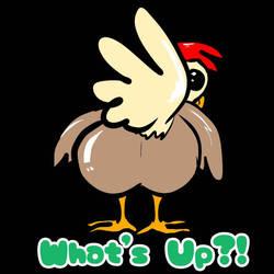 chicken stickers - Chicken Butt by HazardousHeart