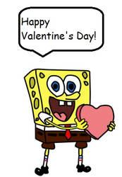 Spongebob wishes everyone happy valentines day by MorgsterGolderngirls