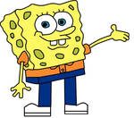 Spongebob wearing Lincoln's outfit