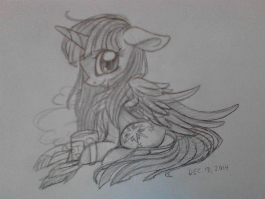 Twilight Sparkle Quick Sketch by DisposedNevada0