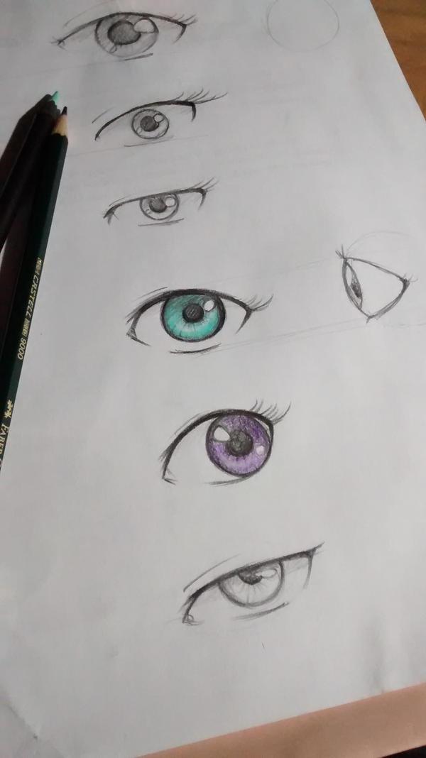 eyes practice by AdrWart