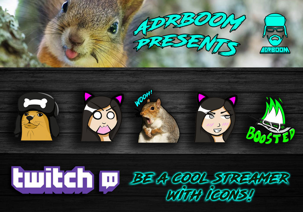 twitch icons! by Adr-Boom