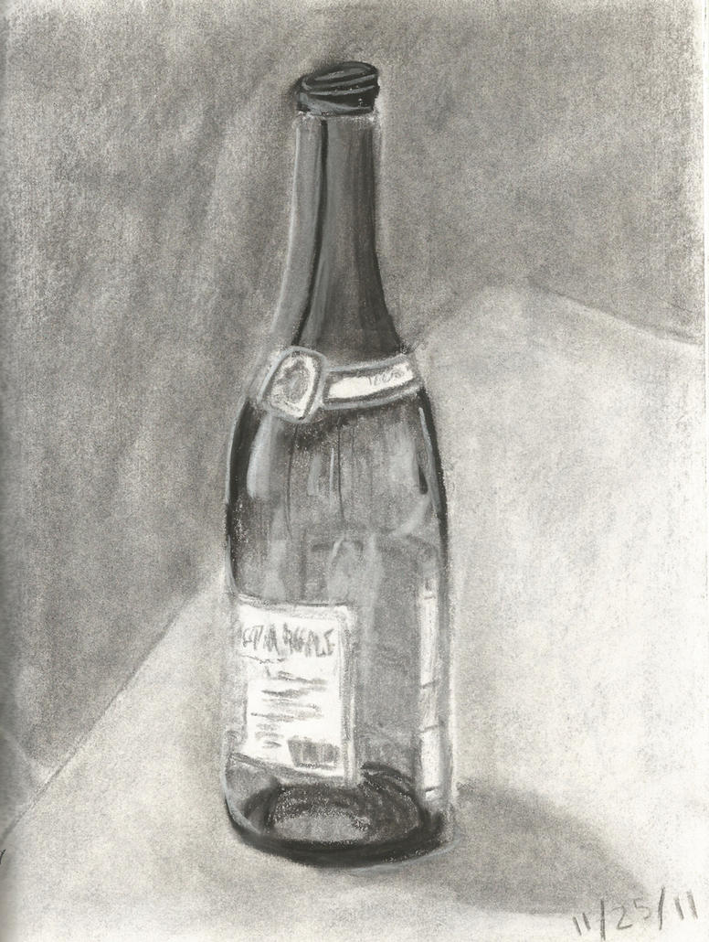 Sketch 12- Wine Bottle by peanutbutterpancakes on DeviantArt