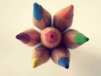 Rainbow Flower by MateaLoncar