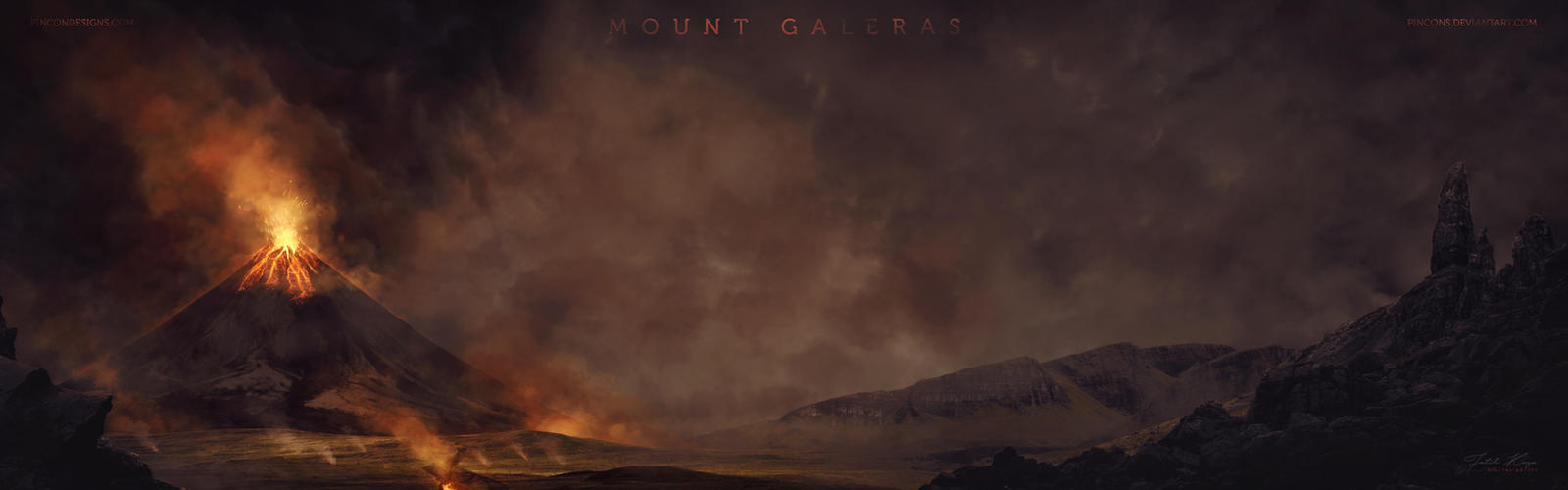Mount Galeras by Pincons