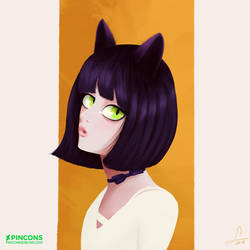 Catty Girl by Pincons