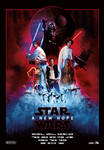 Star Wars Episode IV: A New Hope Movie Poster by Pincons