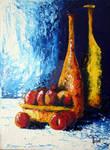 Longnecks with fruit by lloyd-art