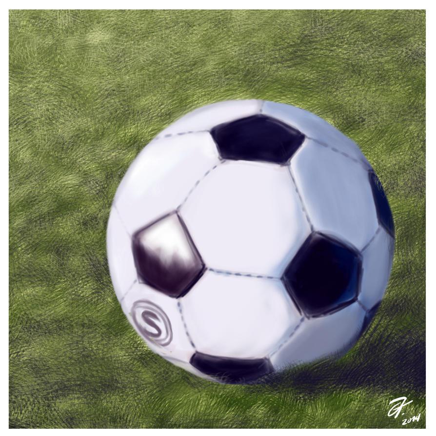 Balon de futbol (practica) by elfantasmo