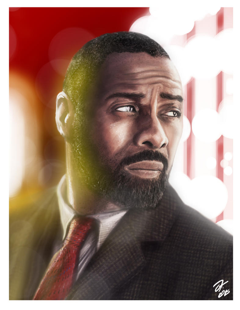 LUTHER from the BBC TV series - Digital Painting by elfantasmo
