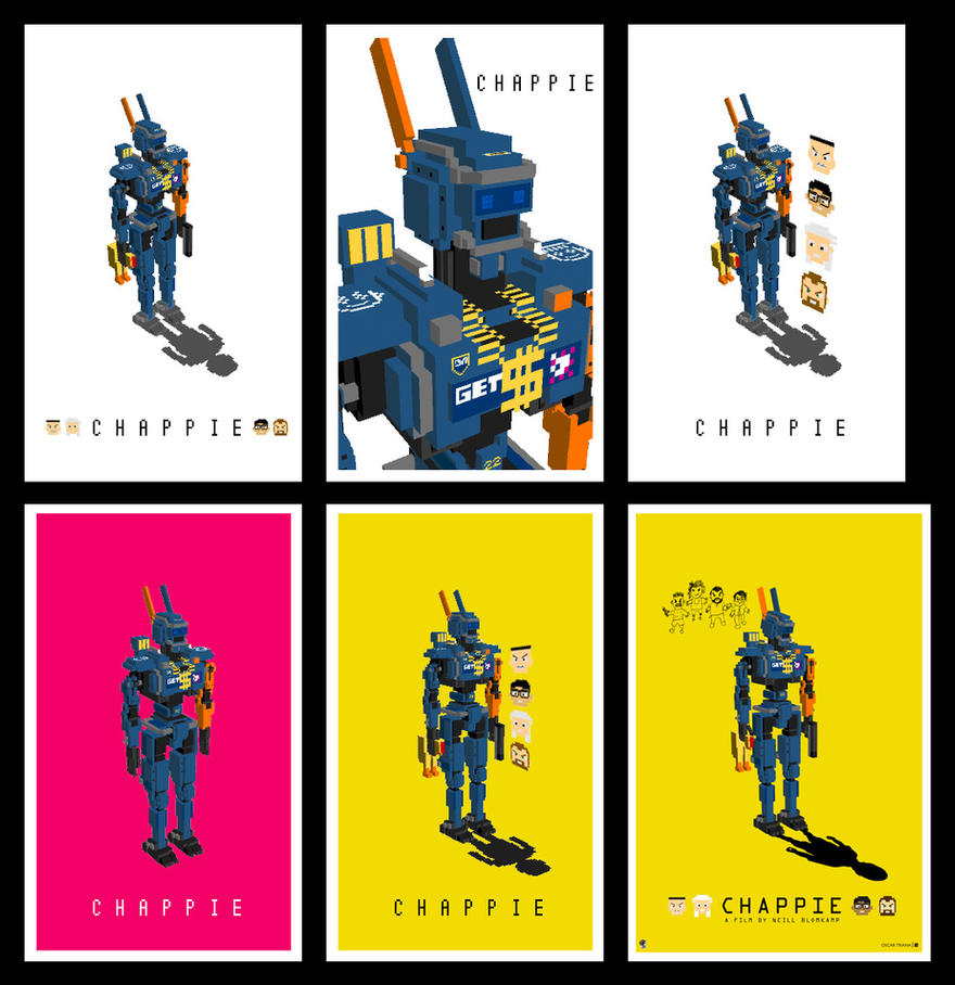 Chappie Poster - Drafts by elfantasmo