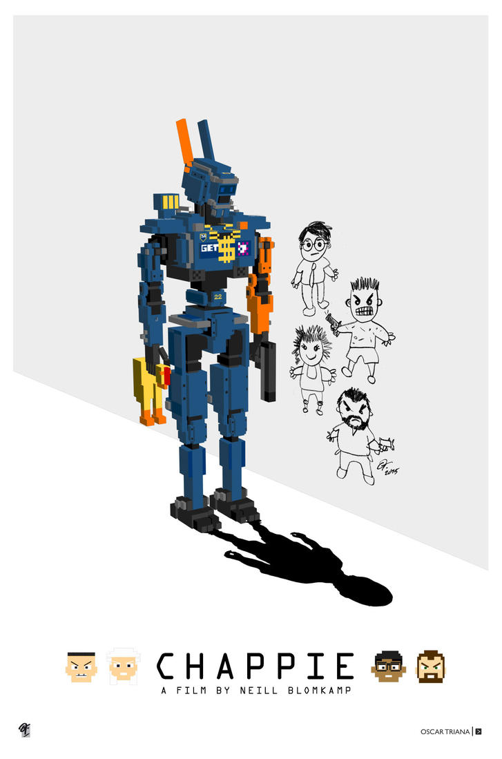 Chappie Poster - W by elfantasmo