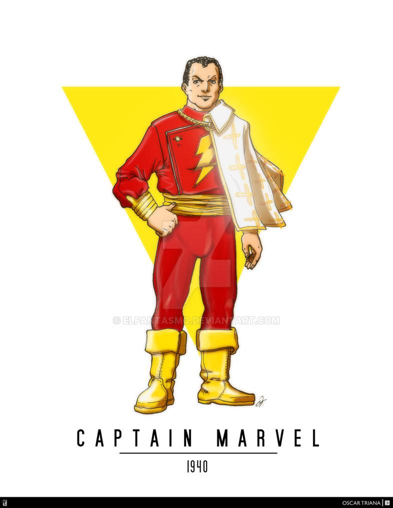Captain Marvel (a.k.a Shazam) (1940) - FA by elfantasmo