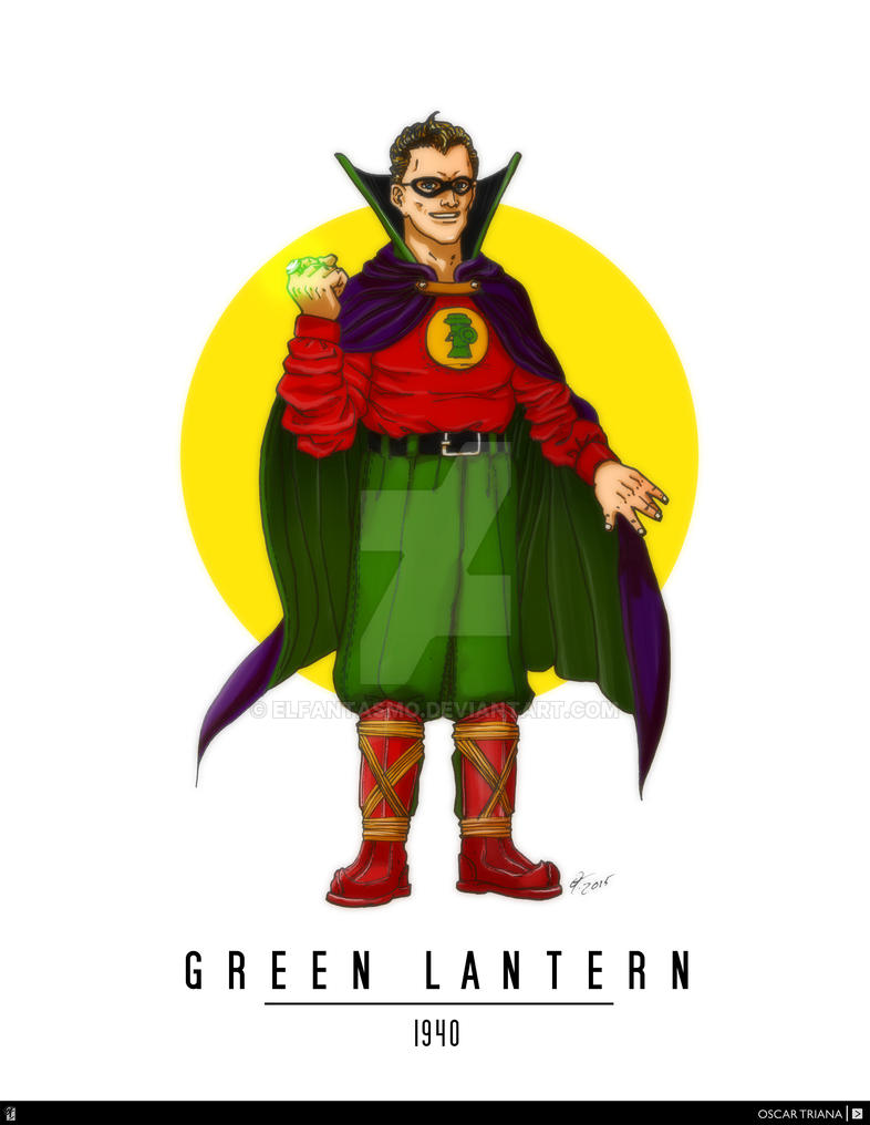 Green Lantern - First Appearance (1940) by elfantasmo