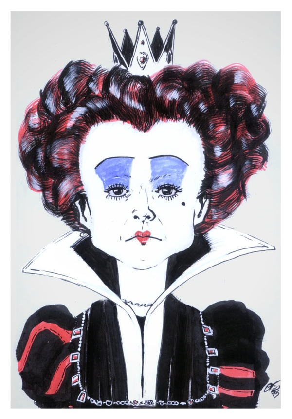Red Queen [Alice in Wonderland] #reto1draw by elfantasmo