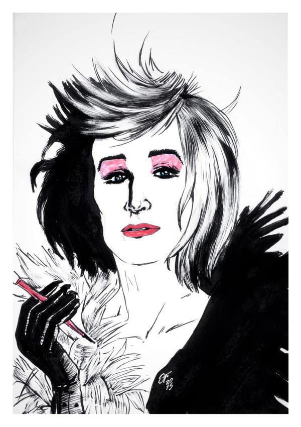 Cruella de Vil #reto1draw by elfantasmo