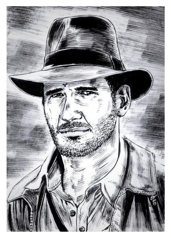 Indiana Jones #reto1draw by elfantasmo