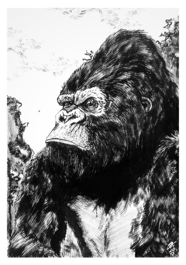 King Kong #reto1draw by elfantasmo