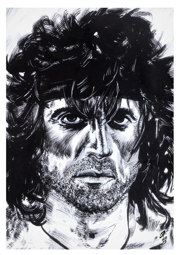 Rambo #reto1draw by elfantasmo