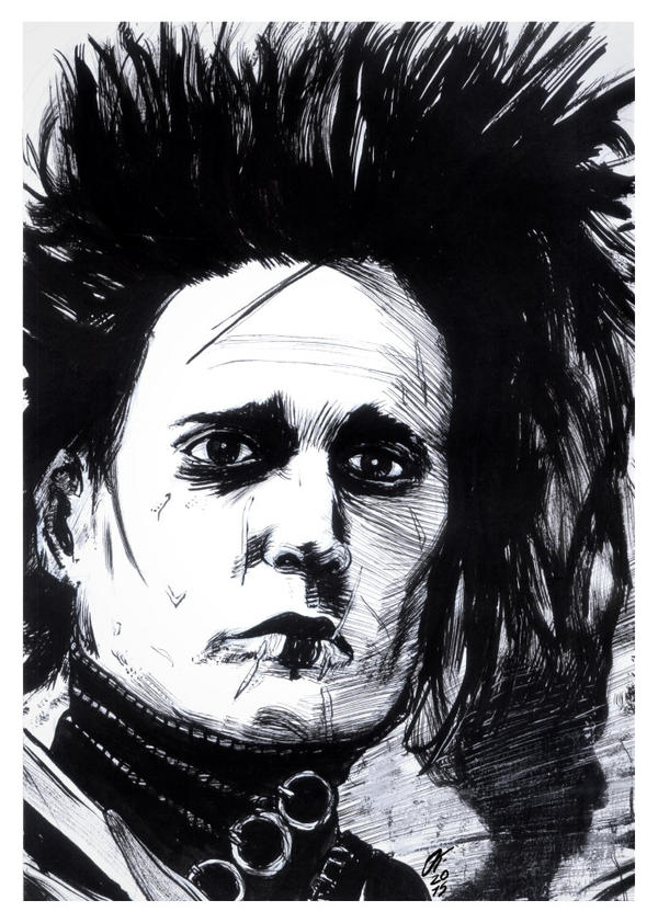 Edward Scissorhands #reto1draw by elfantasmo