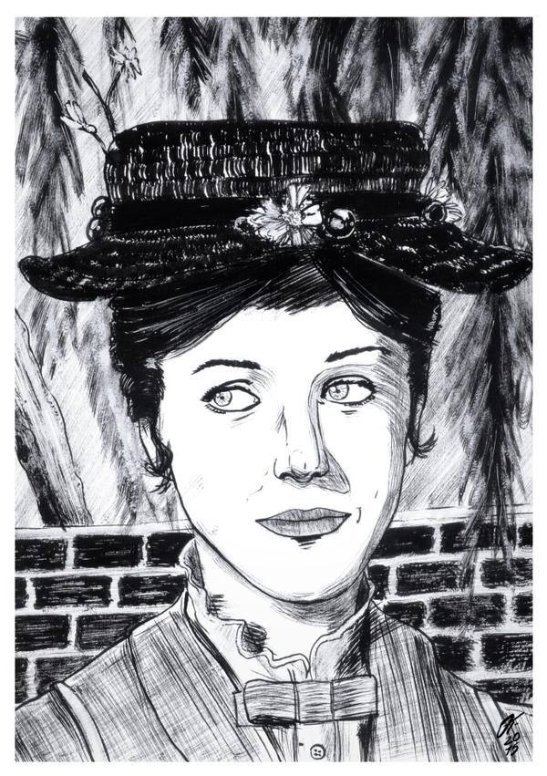 Mary Poppins #reto1draw by elfantasmo